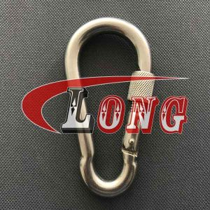 Snap Hook DIN 5299 with Screw Nut Stainless Steel