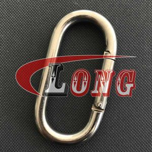 AISI304 Stainless Steel Oval Snap Hook