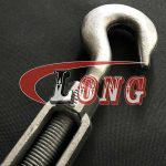 Galvanized Turnbuckle Hook&Hook US Fed Spec,aka hook-hook turnbuckle,conform to US type,made of superior carbon steel,been drop forged,Zinc plated/HDG