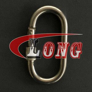 Oval Snap Hook with Screw Nut Stainless Steel China manufacturer