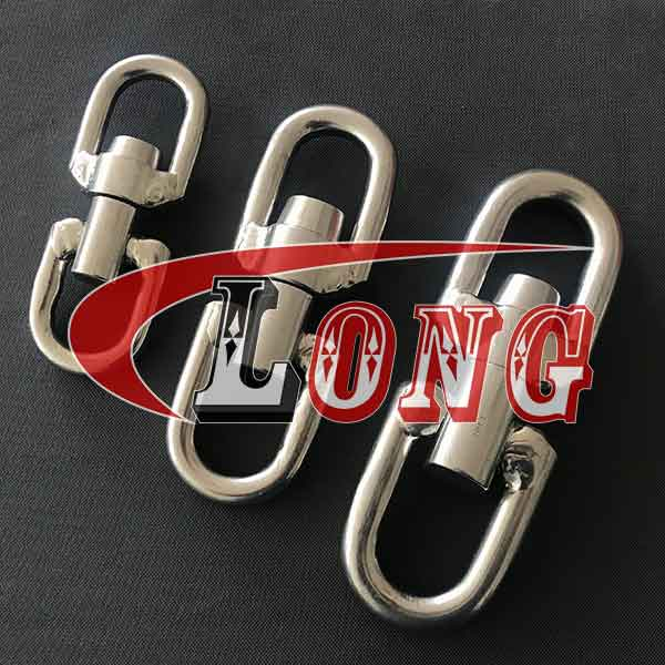 Chain Swivel Flexible Stainless Steel WDF Type,aka trawl swivel,made of Marine Grade AISI 304/316 stainless steel,welded,used for trawling,China supplier