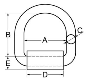 Forged Weld-on D Ring with Mounting Bracket
