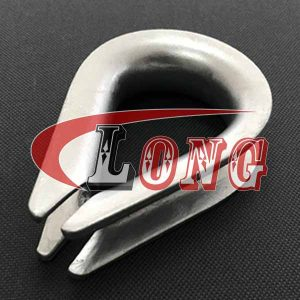 DIN 6899 B Galvanized Wire Rope Thimble - China LG Supply