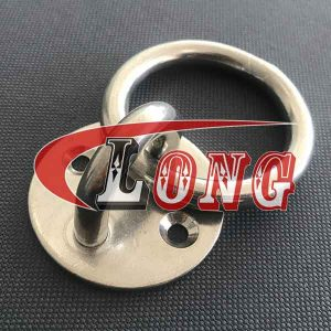 Stainless Steel Round Pad Eye Plate with Ring