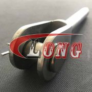 Stainless Steel Swage Jaw Terminal,aka SS Swage Jaw terminal,been welded,used for wire rope or cable railing,cable railing hardware made by China supplier