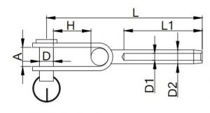 Stainless Steel Swage Toggle Terminal
