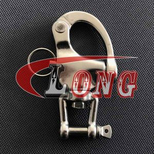 swivel snap shackle with fork/jaw