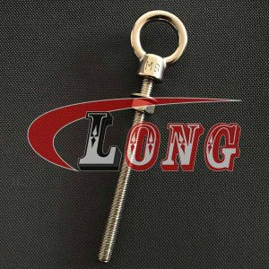 Stainless Steel Long Shank Eye Bolt with Nut and washer China manufacturer