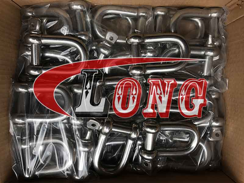 Stainless Steel D Shackle Screw Pin European Type China manufacturer