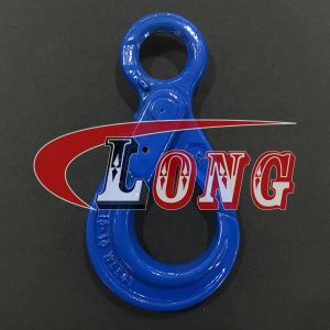 Eye Self Locking Hook,self-locking hook,lifting hooks,self locking safety hook,eye hook,Grade/G100,european type,the China manufacturer and supplier