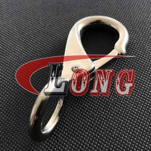 Stainless Steel Fixed Eye Boat Snap Hook