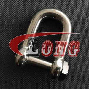 D Shackle Stainless Steel Square Head Pin China manufacturer