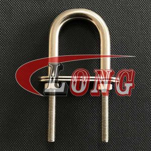 Stainless Steel U Bolt TPN Type with 2 Plates & Nuts China manufacturer
