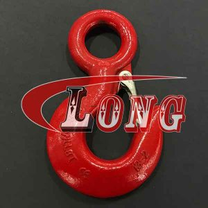 G80 320 Eye Sling Hoist Hook with Latch China manufacturer