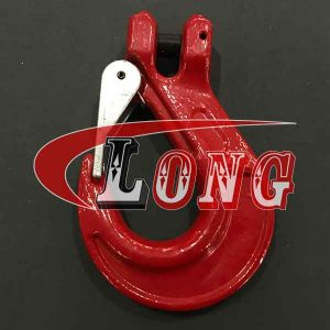 G80 Clevis Sling Hook with Latch(Oval Groove)
