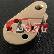 pulley block with removable pin