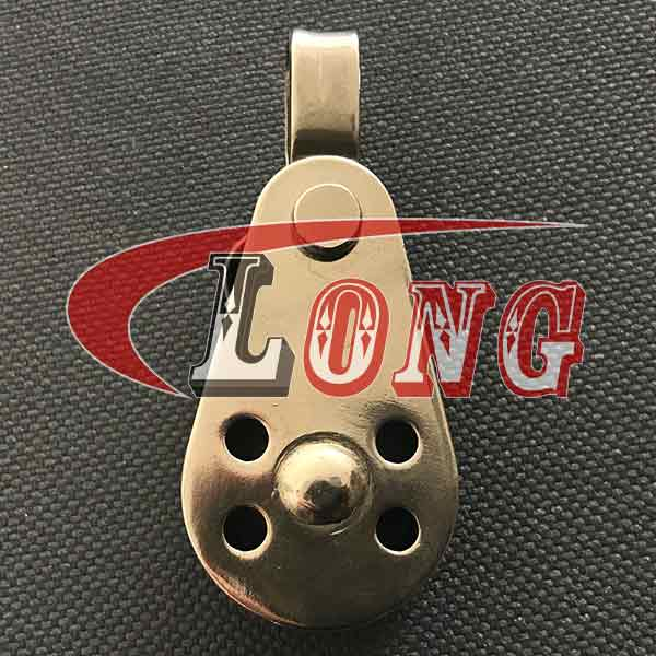 stainless steel pulley block with removable pin