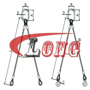 Wire Sling 2-Leg,EN13414 standard - China LG Supply