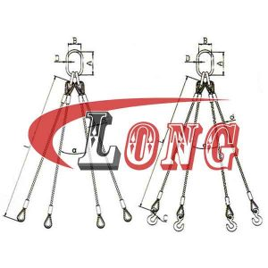 4 Leg Wire Rope Sling EN13414 - China LG Supply