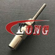 Wire Rope Swageless Fittings thread stud,aka swageless terminal or cable railing hardware,swageless thread stud is made marine grade 316,China manufacturer