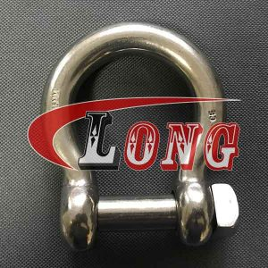 Bow shackle stainless steel square head pin,aka anchor shackle,conform to European type,made of AISI304/316,cast or forged,highly polishing,China supplier