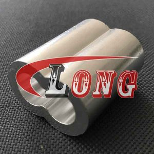 Wire Rope Sleeve Double Barrel Ferrule,aka wire rope sleeve,made of Aluminium,been machined&Extruded,it's duplex oval shape,China manufacturer supplier