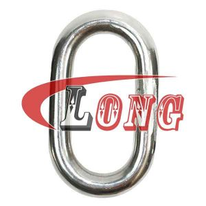 master link welded stainless steel,aka welded oval ring,made of AISI 304/316,been welded,safety factor is 5:1,used for trawling,China manufacturer supplier