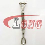 Drop Forged Jaw & Eye Turnbuckle Stainless Steel US Type China manufacturer
