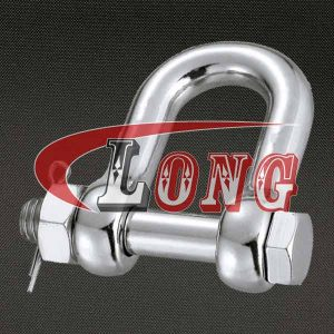 D Shackle Oversized Bolt Type Pin Stainless Steel G-2150 China manufacturer
