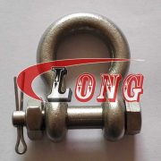 316 8mm Stainless Steel Oversized Bolt Pin Forged US Type Marine Grade Anchor Shackle 5//16