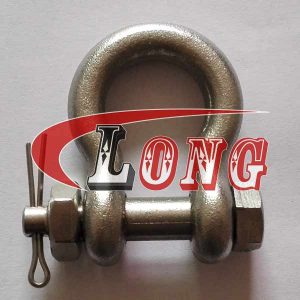 Stainless Steel Drop Forged Bow Shackle Oversized Bolt Type Pin G-2130 China manufacturer
