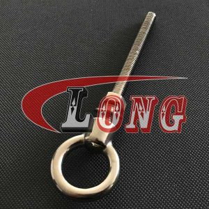 Stainless Steel Shoulder Eye Bolt UNC Thread with Nut and washer China manufacturer