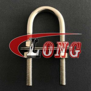Stainless Steel U Bolt Clamp TPFN Type with 2 Plates & 4 Nuts China manufacturer