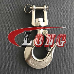 Clevis Swivel Hook with Latch Stainless Steel China manufacturer