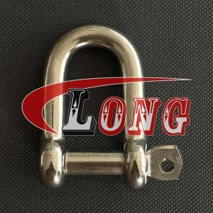 Stainless Steel D Shackle Captive Pin China manufacturer